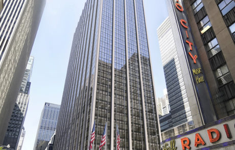 Rendering of the new 1271 Avenue of the Americas, future home of Major League Baseball